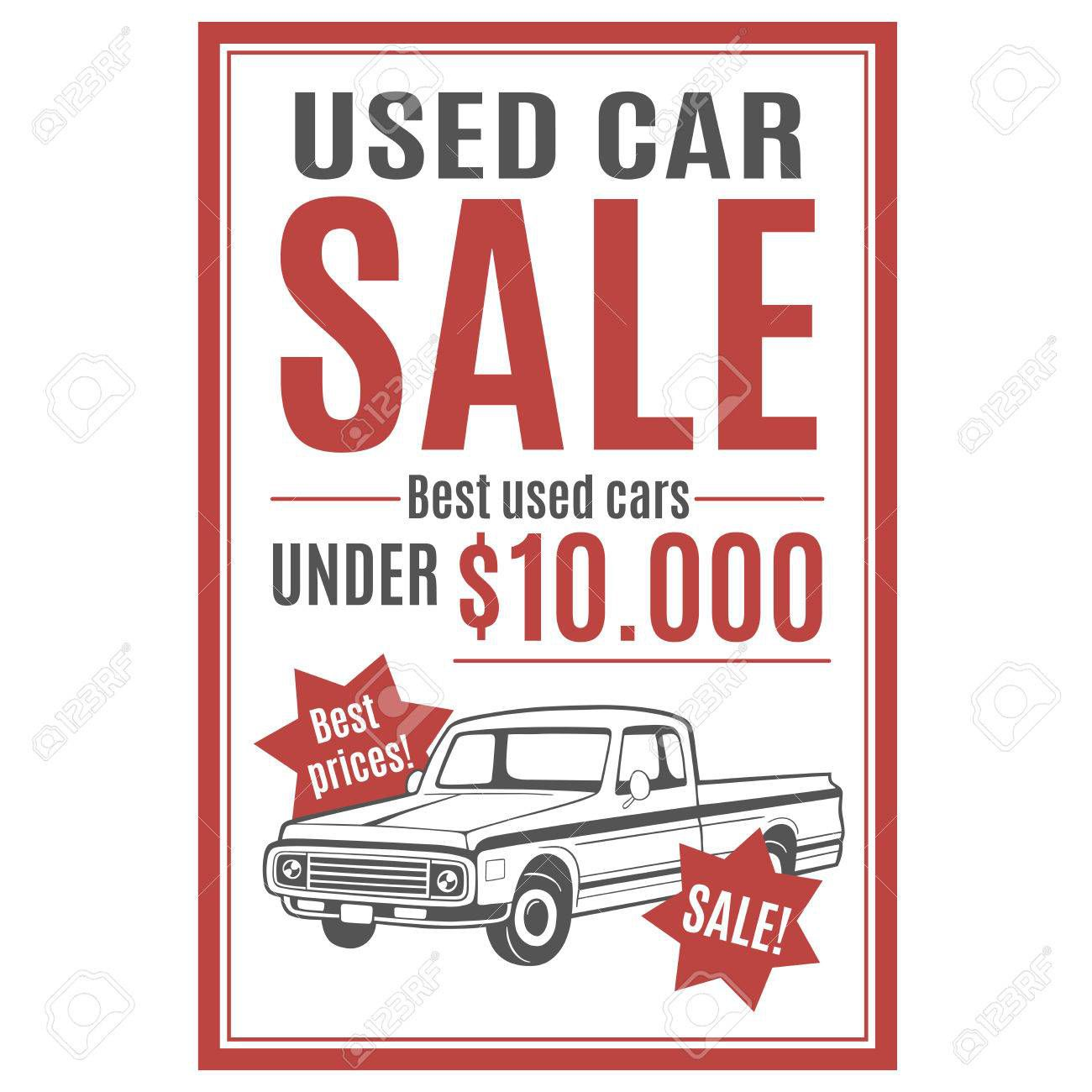 002 Unusual Car For Sale Template Design  Sign Word Bill Of UkFull