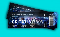 002 Unusual Event Ticket Template Photoshop High Def  Design Psd Free Download