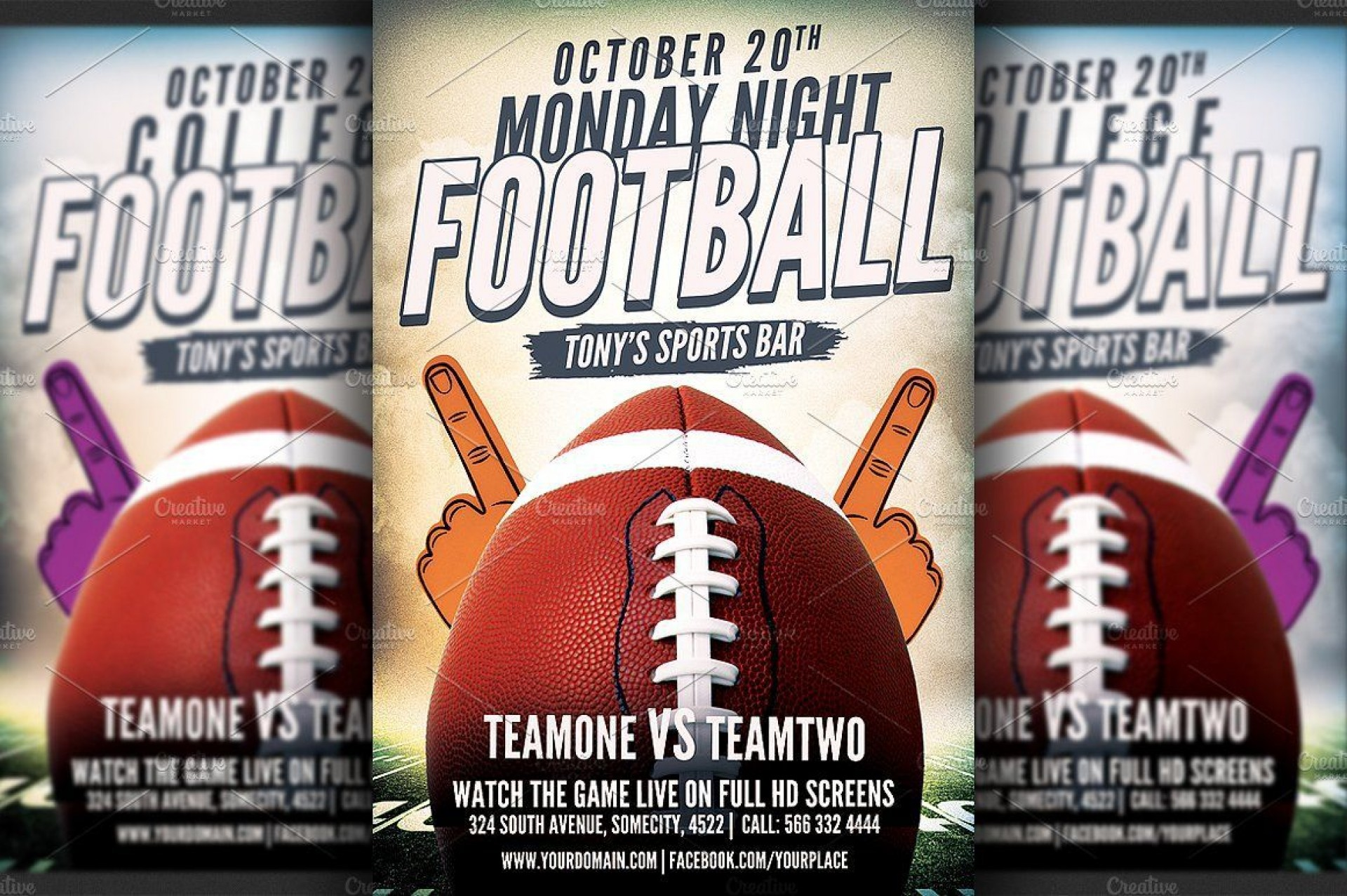 002 Unusual Football Flyer Template Free Sample  Download Flag Party1920