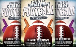 002 Unusual Football Flyer Template Free Sample  Download Flag Party