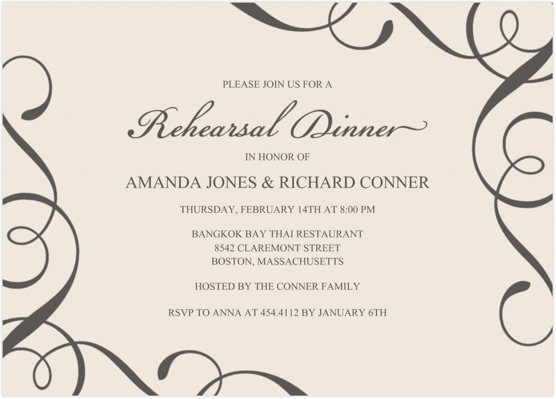 002 Unusual Free Dinner Invitation Template Picture  Templates Rehearsal Printable Italian Thanksgiving1920