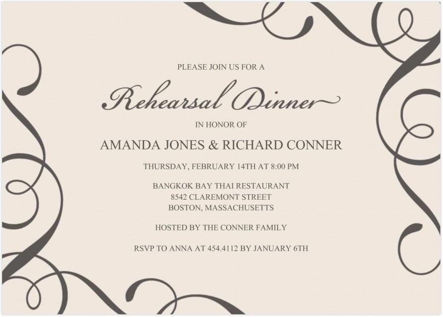 002 Unusual Free Dinner Invitation Template Picture  Templates Graduation Christma Rehearsal
