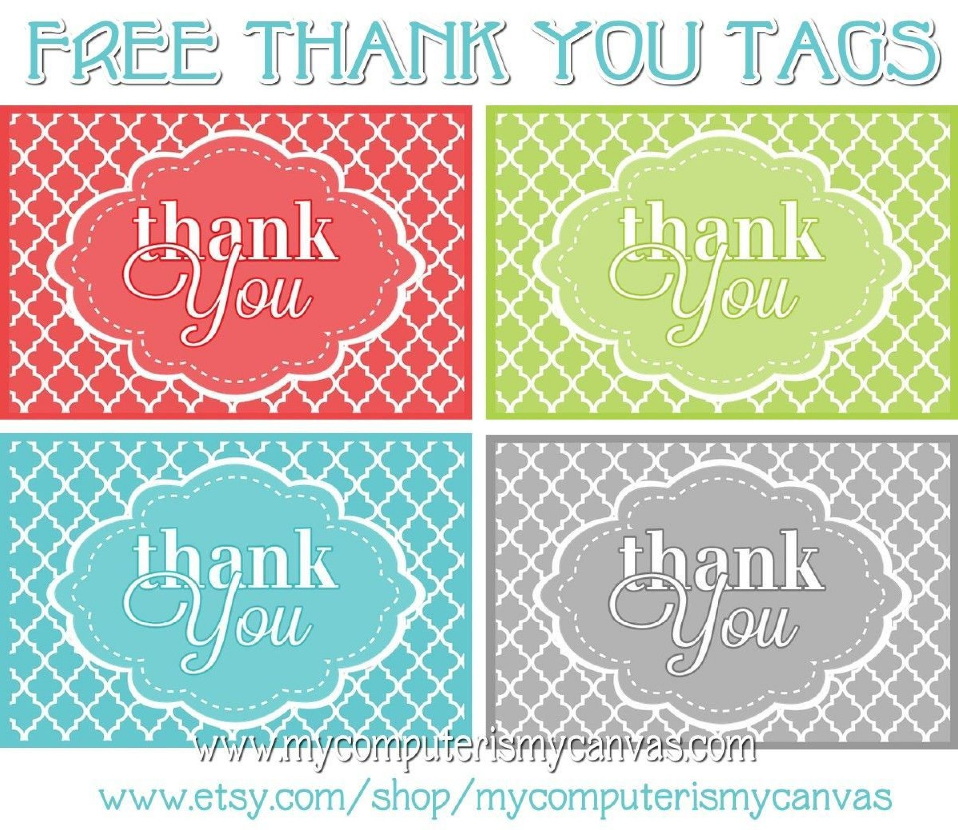 002 Unusual Free Printable Thank You Gift Tag Template High Definition  Templates1920