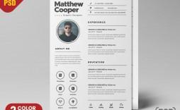 002 Unusual Free Psd Resume Template Design  Templates Attractive Download Creative (psd Id) Curriculum Vitae