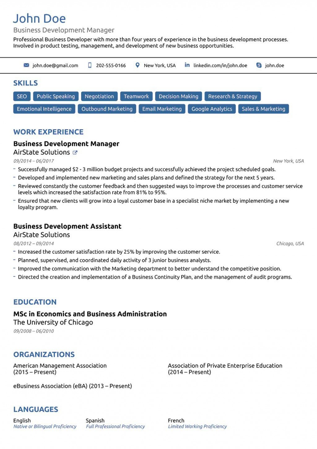 002 Unusual Functional Resume Template Free Photo Large