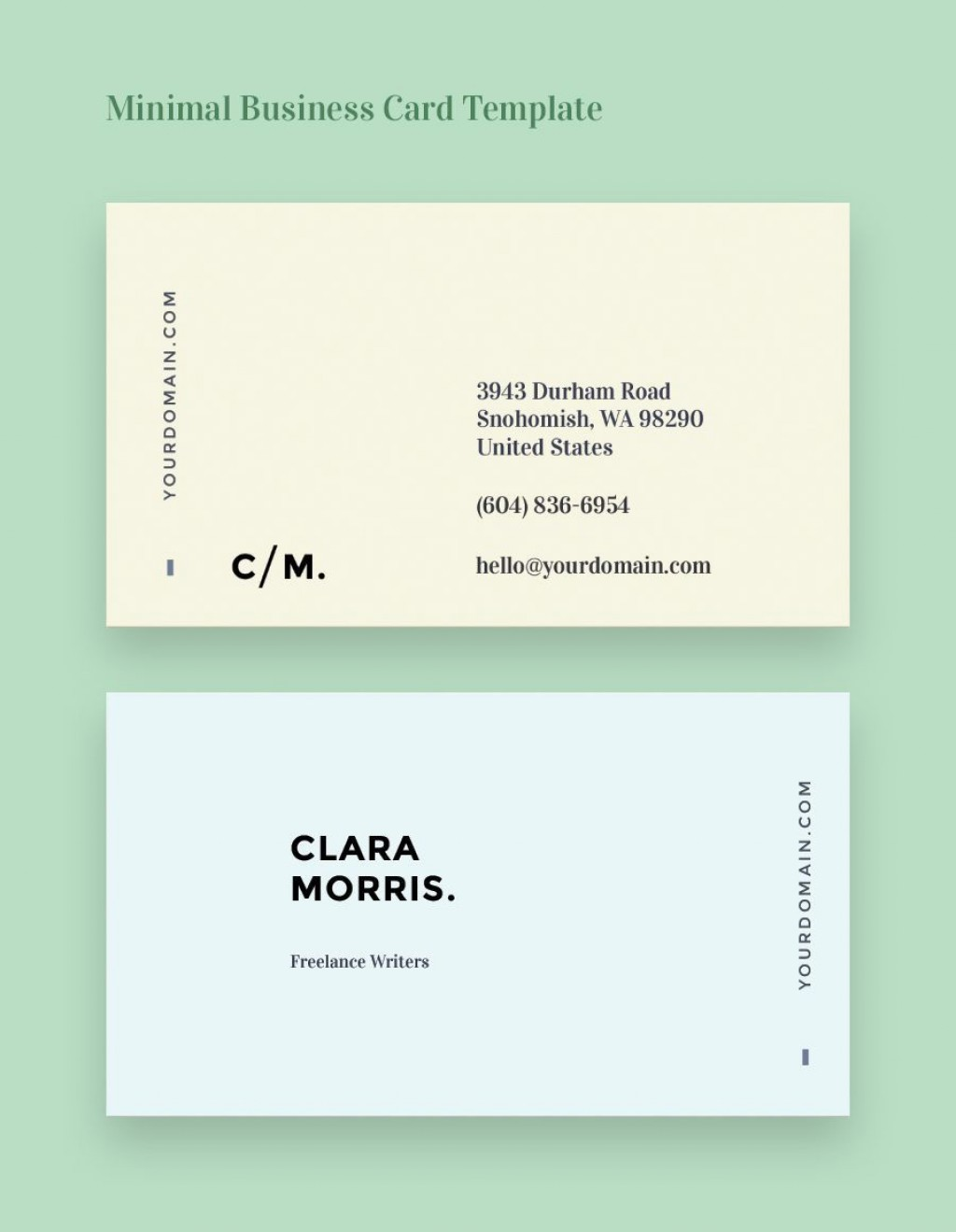 002 Unusual Minimal Busines Card Template Free Idea  Easy Simple DownloadLarge