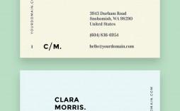 002 Unusual Minimal Busines Card Template Free Idea  Easy Simple Download