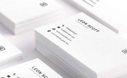 002 Unusual Minimalist Busines Card Template Psd Example