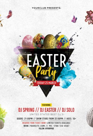 002 Unusual Party Event Flyer Template Free Download Sample 320
