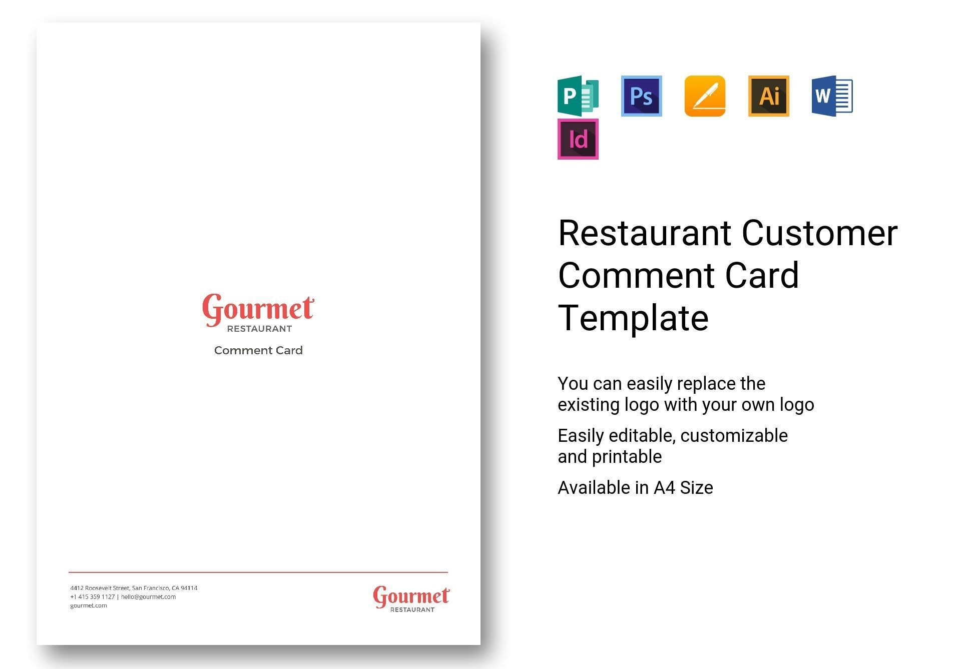 002 Unusual Restaurant Comment Card Template For Word Image 1920