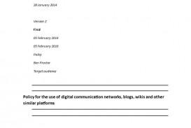 002 Unusual Social Media Policy Template Design  Free