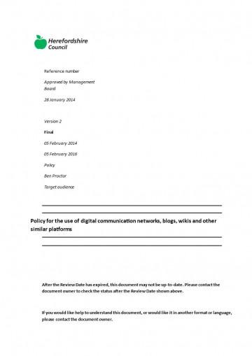 002 Unusual Social Media Policy Template Design  Free360