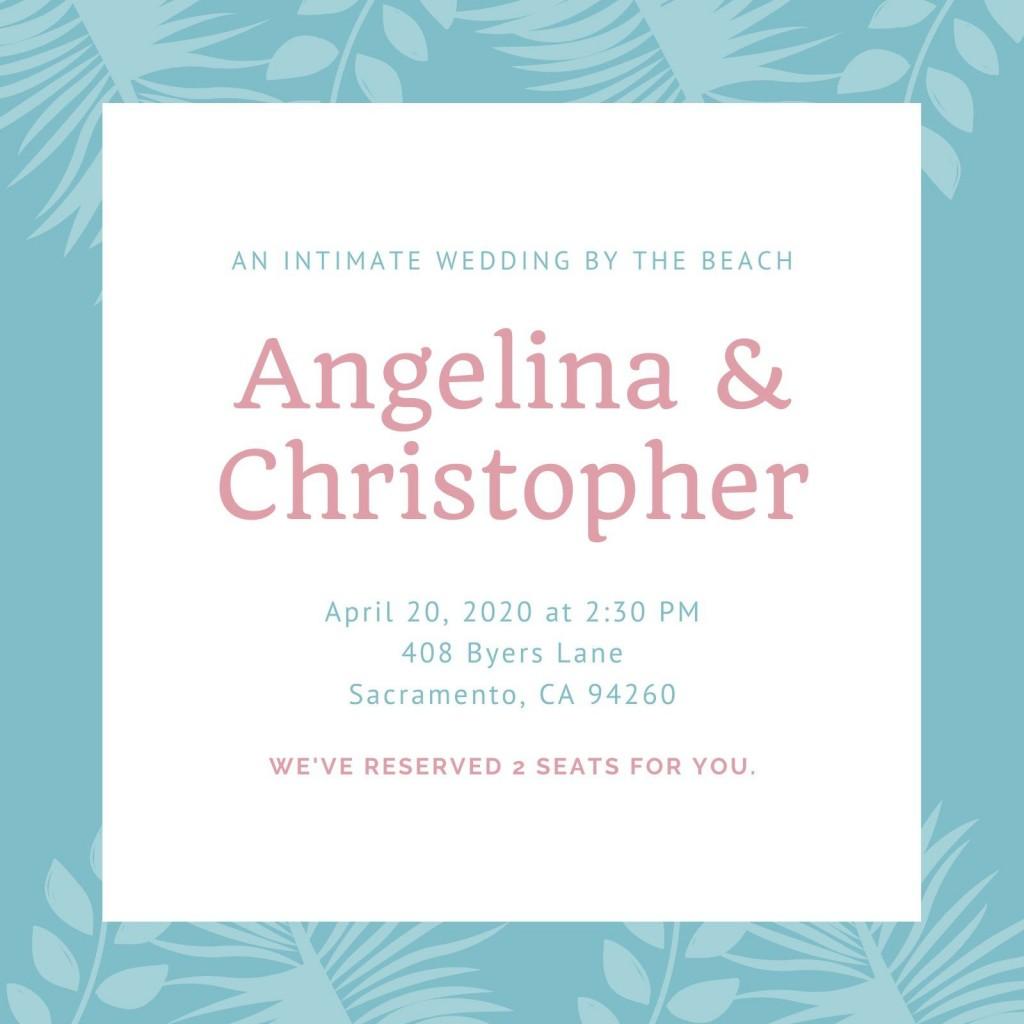 002 Wonderful Beach Wedding Invitation Template Highest Clarity  Templates Free Download For WordLarge