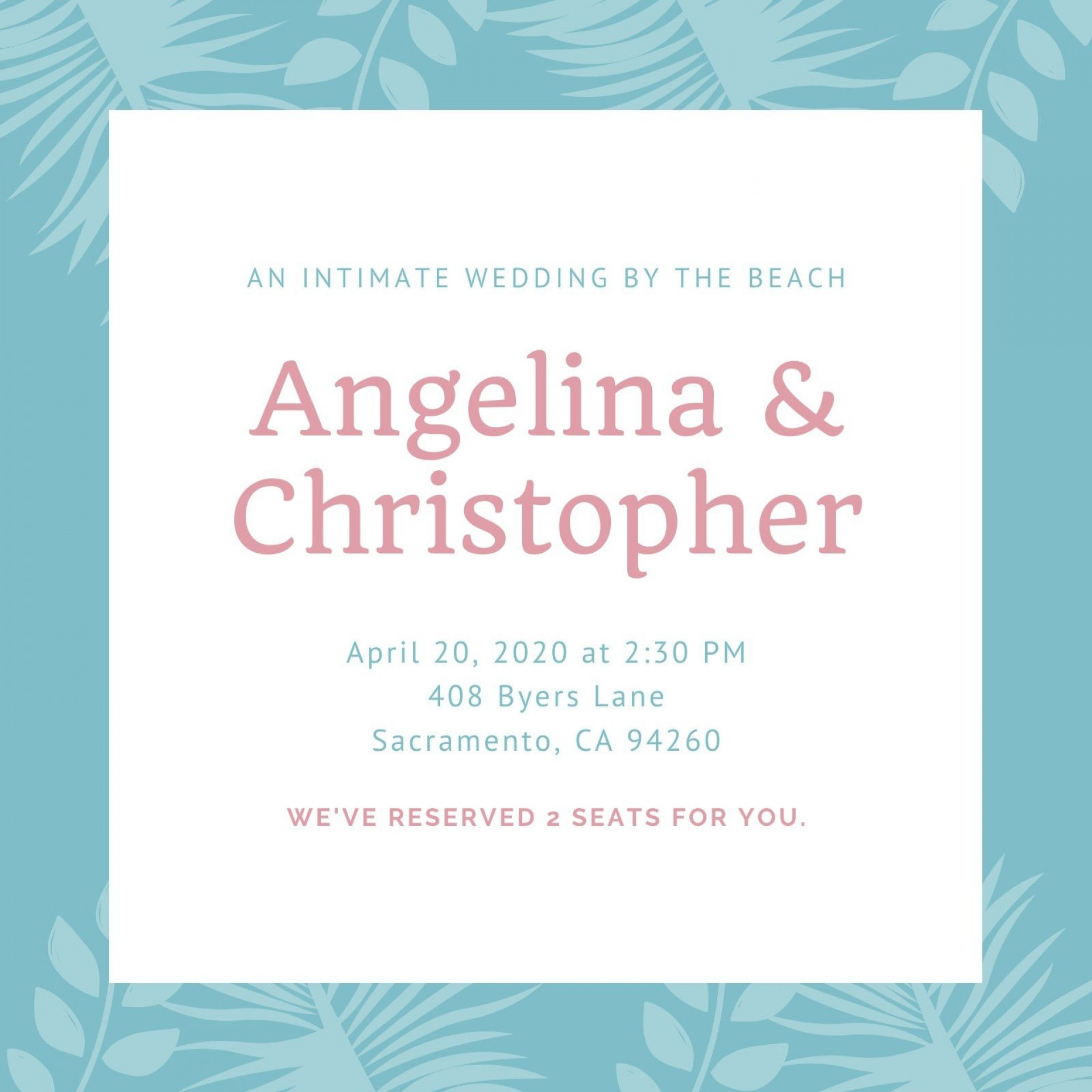 002 Wonderful Beach Wedding Invitation Template Highest Clarity  Templates Free Download For Word1920