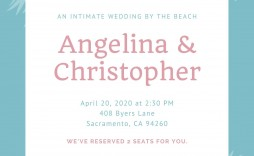 002 Wonderful Beach Wedding Invitation Template Highest Clarity  Templates Free Download For Word