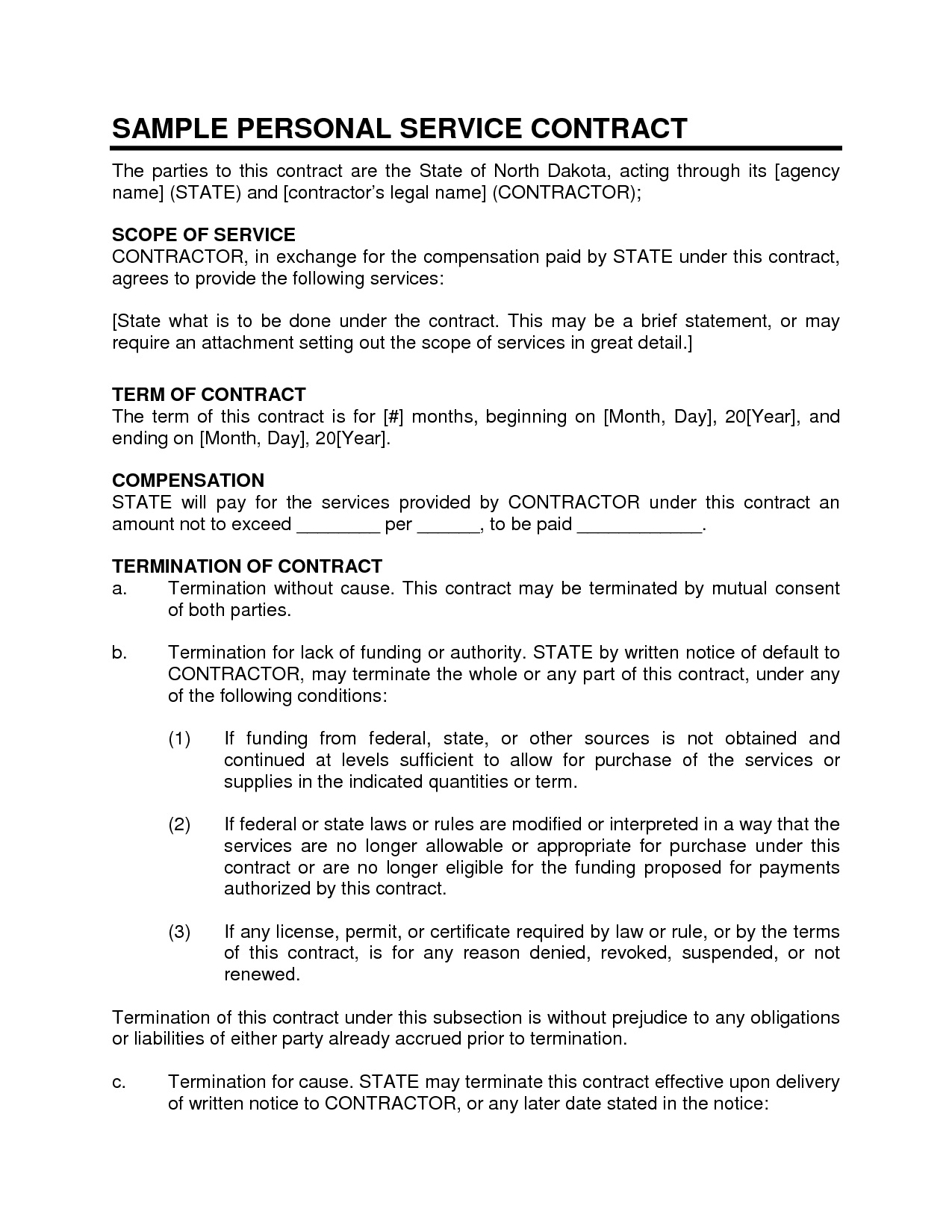 002 Wonderful Busines Service Contract Template Example  Small AgreementFull