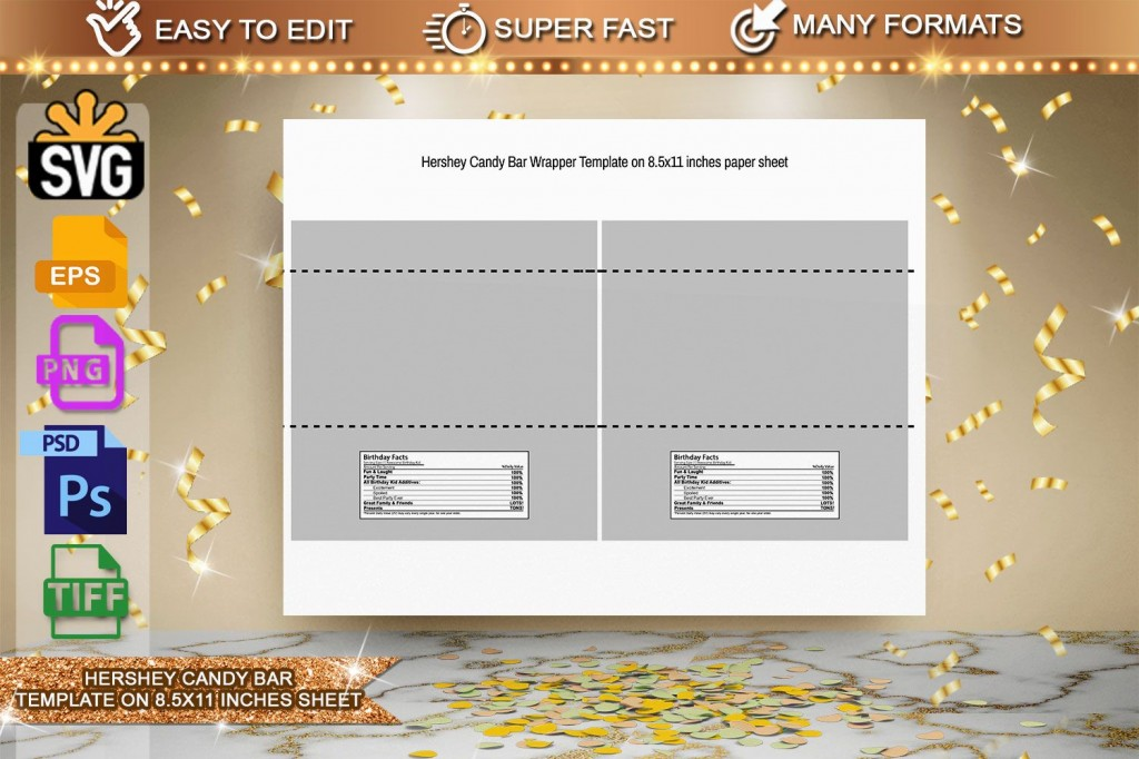 002 Wonderful Chocolate Bar Wrapper Template Picture  Candy Free Printable Mini IllustratorLarge