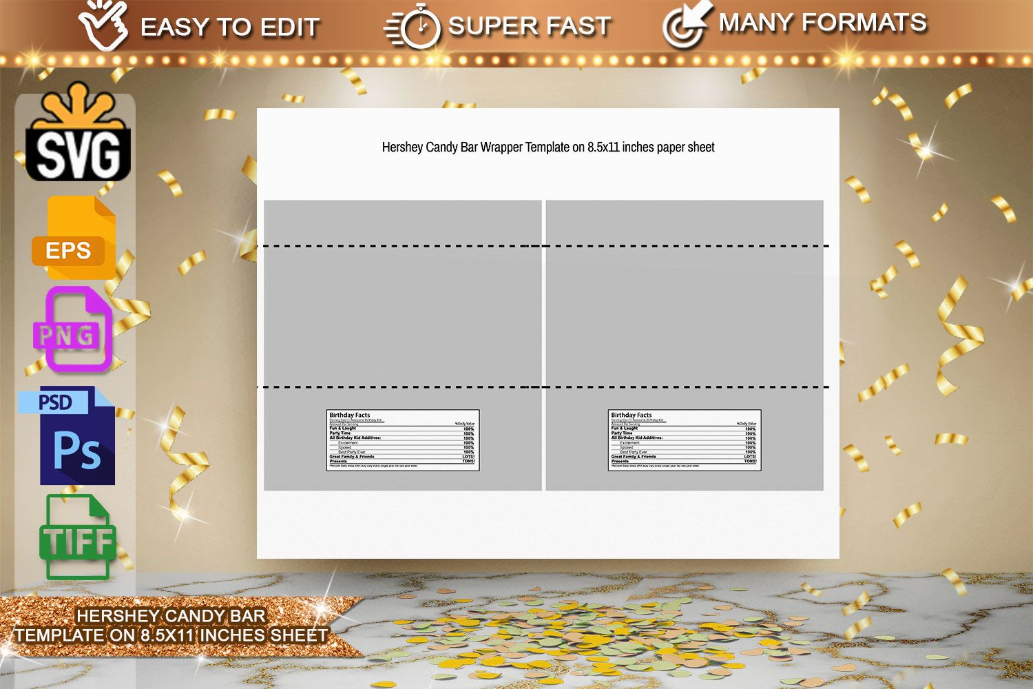 002 Wonderful Chocolate Bar Wrapper Template Picture  Candy Free Printable Mini IllustratorFull