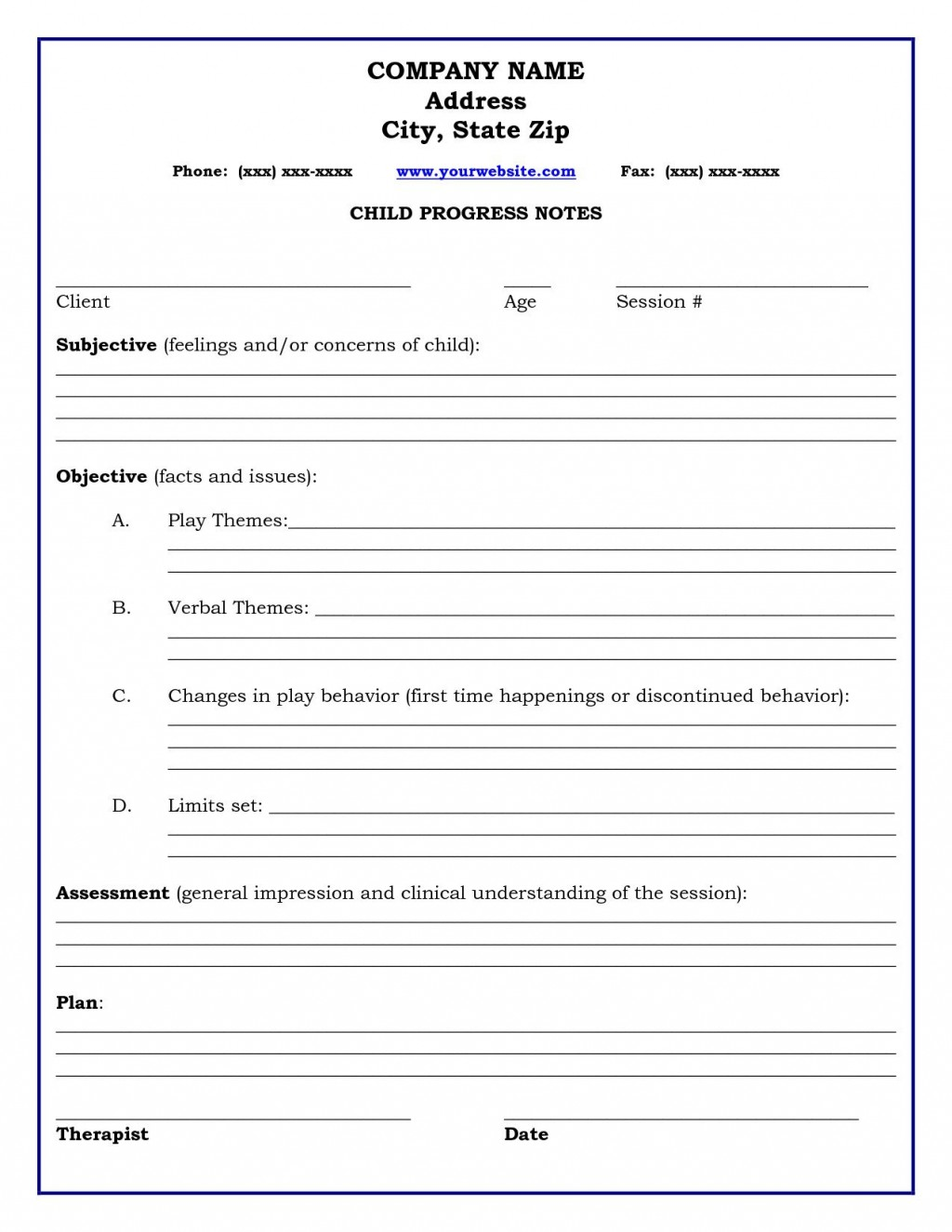 002 Wonderful Counseling Progres Note Template High Def  Physical Therapy Pdf FreeLarge