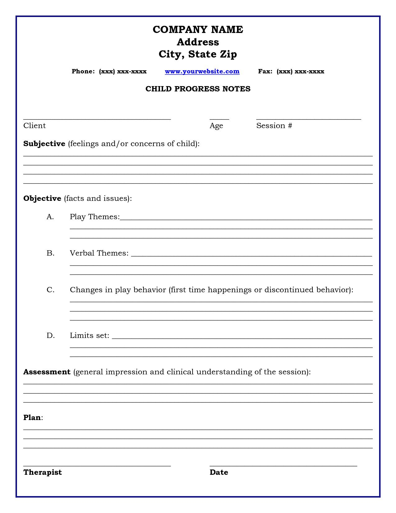 002 Wonderful Counseling Progres Note Template High Def  Physical Therapy Pdf FreeFull