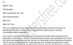 002 Wonderful Cover Letter Sample Template For Fresh Graduate In Marketing High Def
