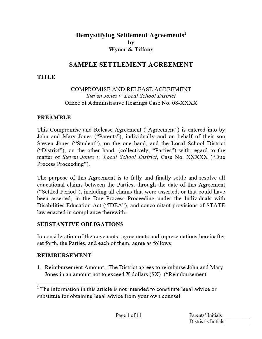 002 Wonderful Divorce Settlement Agreement Template Highest Clarity  Sample New York Marital Uk South AfricaFull