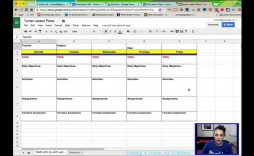 002 Wonderful Editable Lesson Plan Template Middle School High Def