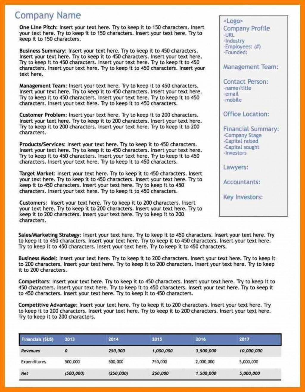 002 Wonderful Executive Summary Word Template Free Download Concept Large