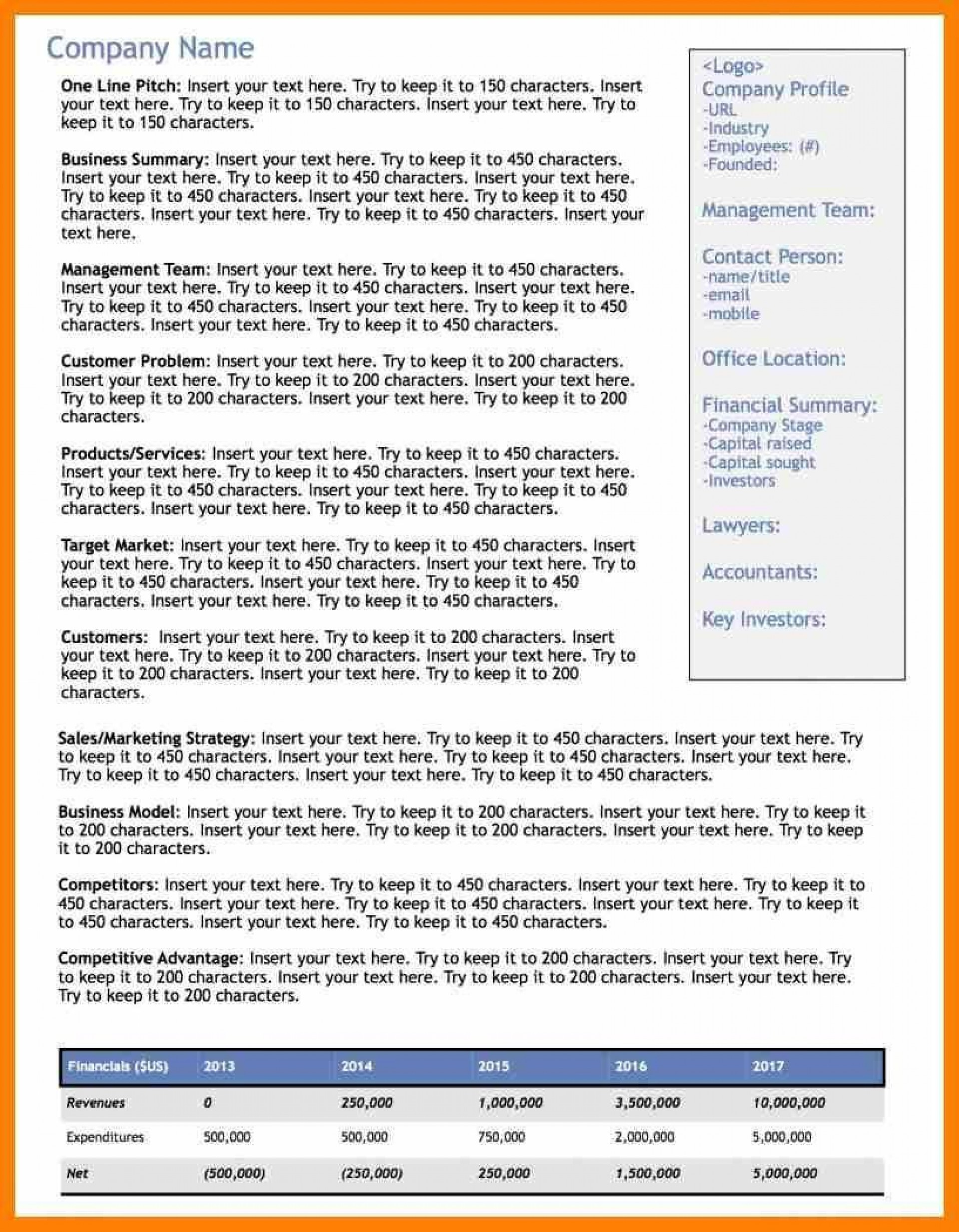 002 Wonderful Executive Summary Word Template Free Download Concept 1920
