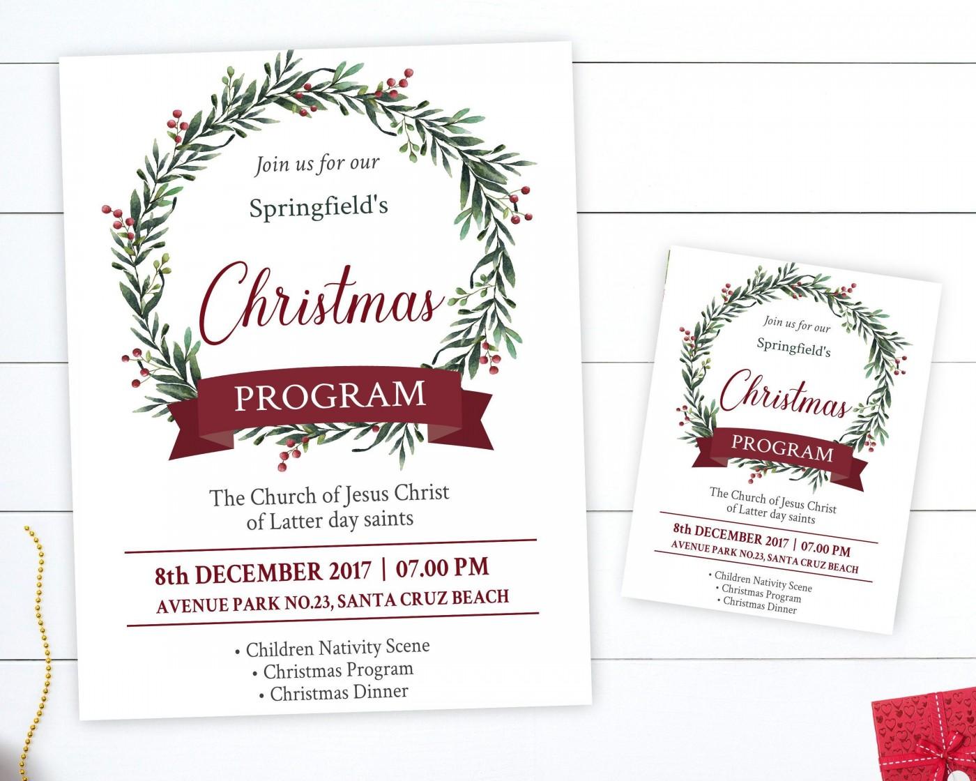 002 Wonderful Free Church Christma Program Template High Resolution 1400