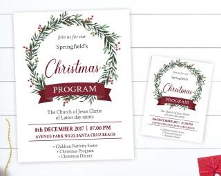 002 Wonderful Free Church Christma Program Template High Resolution 320
