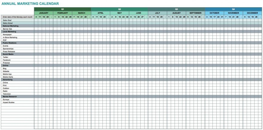 002 Wonderful Free Excel Calendar Template Photo  Download Format 2020 Annual