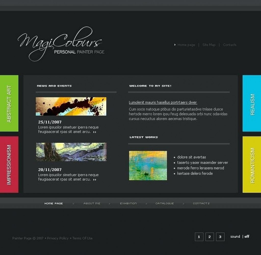 002 Wonderful Free Flash Website Template Inspiration  Templates 3d Download IntroLarge