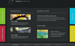 002 Wonderful Free Flash Website Template Inspiration  Templates 3d Download Intro