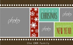 002 Wonderful Free Photo Christma Card Template Design  Templates For Photoshop Online