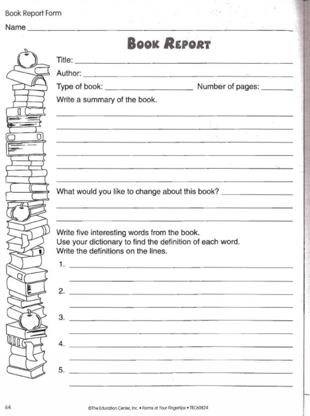 002 Wonderful Free Printable Book Report Template For 6th Grade High Def Large