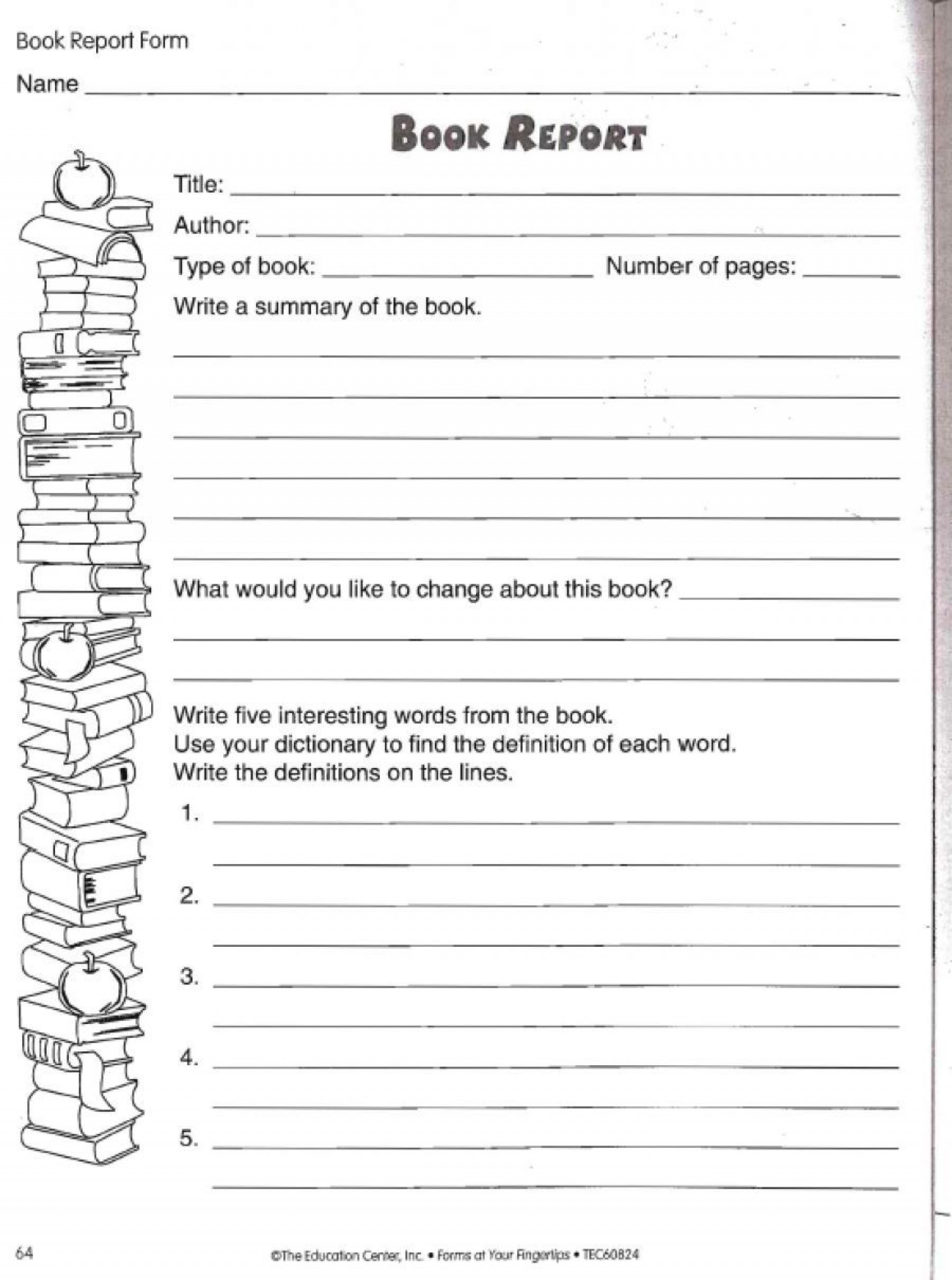 002 Wonderful Free Printable Book Report Template For 6th Grade High Def 1920