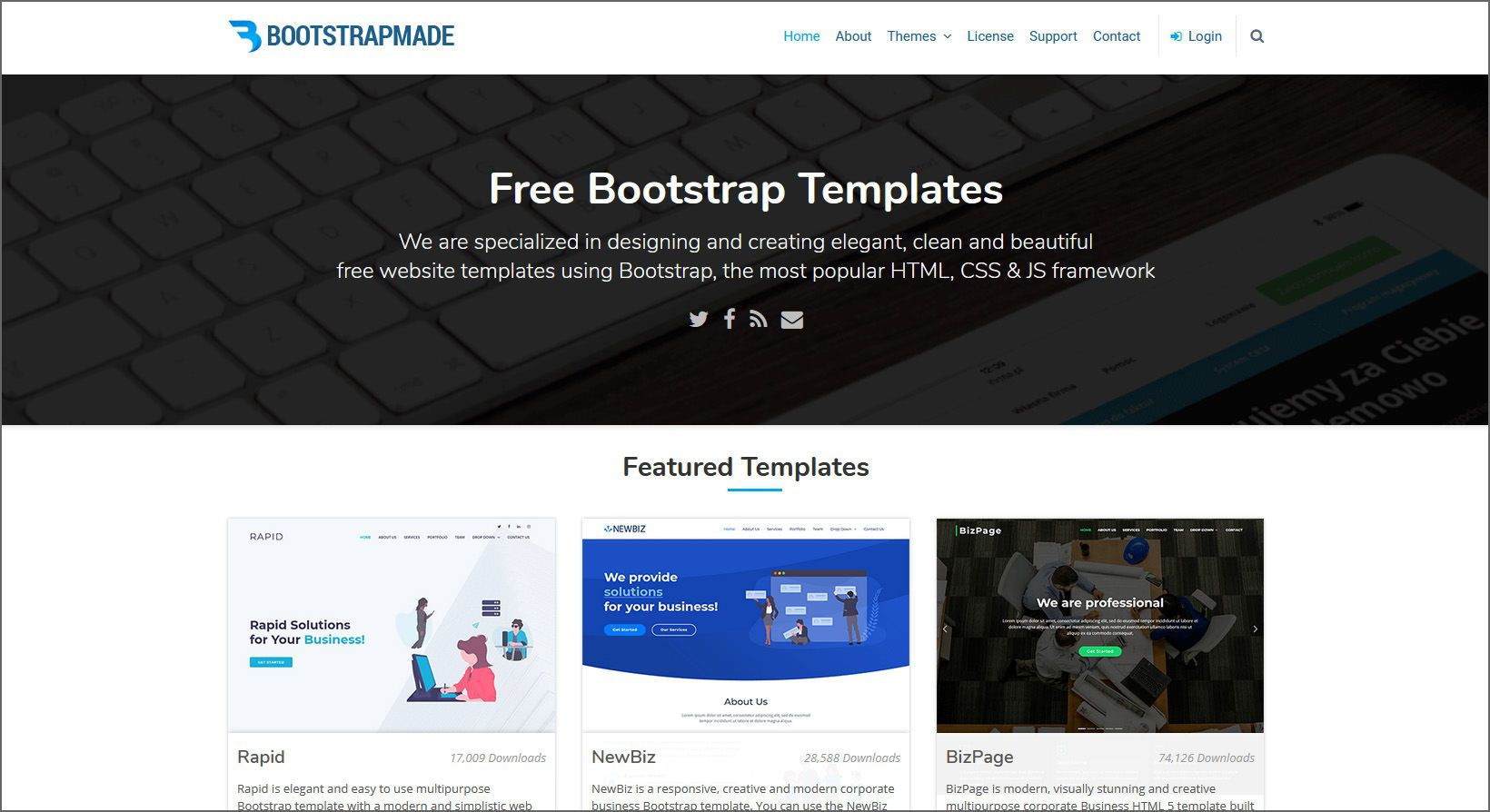 002 Wonderful Free Web Template Download Html And Cs For Busines Concept  Business Website Responsive WithFull