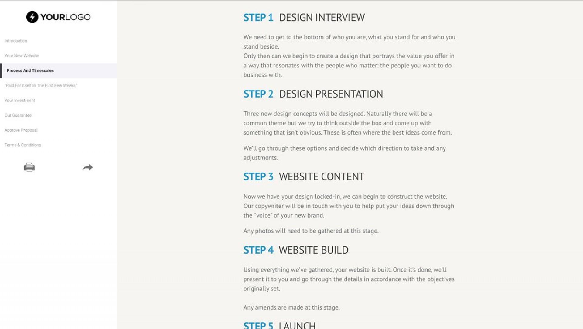 002 Wonderful Freelance Website Design Proposal Template High Definition 1920
