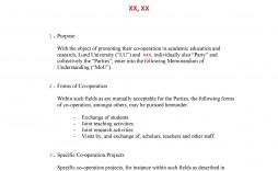 002 Wonderful Letter Of Understanding Sample  Samples Template Word