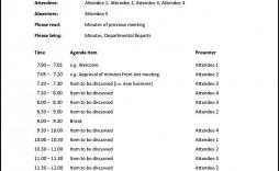 002 Wonderful Meeting Agenda Template Doc Concept  Busines Sample Simple