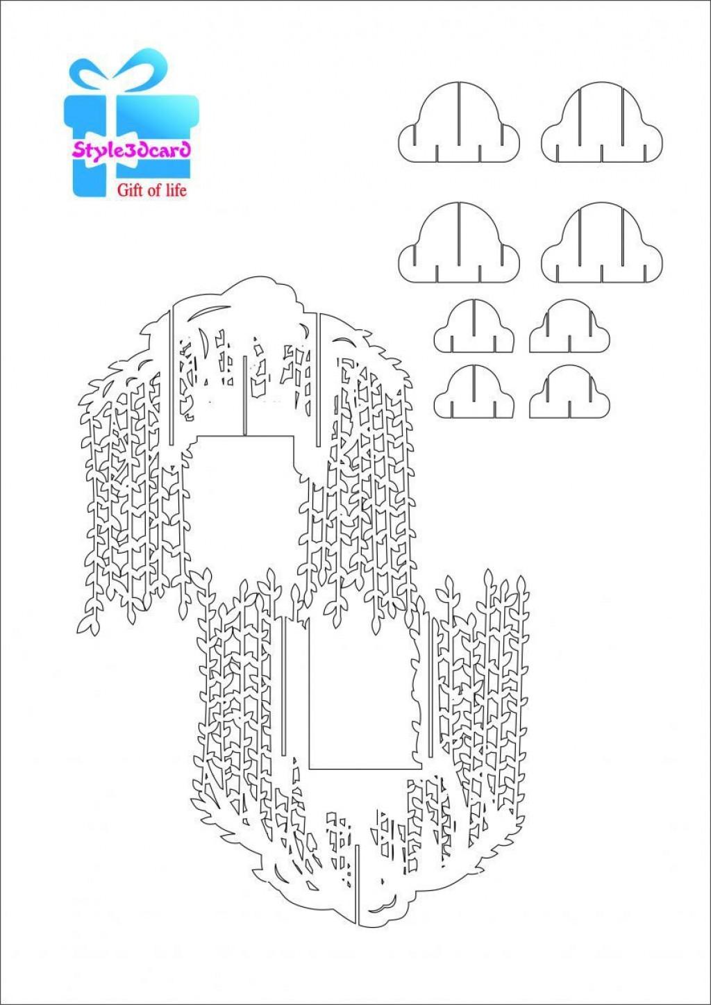 002 Wonderful Pop Up Card Template High Def  Templates Birthday Free Download Printable FlowerLarge