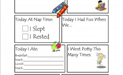 002 Wonderful Preschool Daily Report Template High Def  Form Baby Sheet