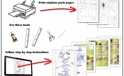 002 Wonderful Printable Paper Plane Plan Inspiration  Plans Airplane Free Design Instruction