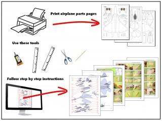 002 Wonderful Printable Paper Plane Plan Inspiration  Free Airplane Template Pdf320