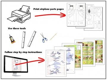 002 Wonderful Printable Paper Plane Plan Inspiration  Free Airplane Template Pdf360