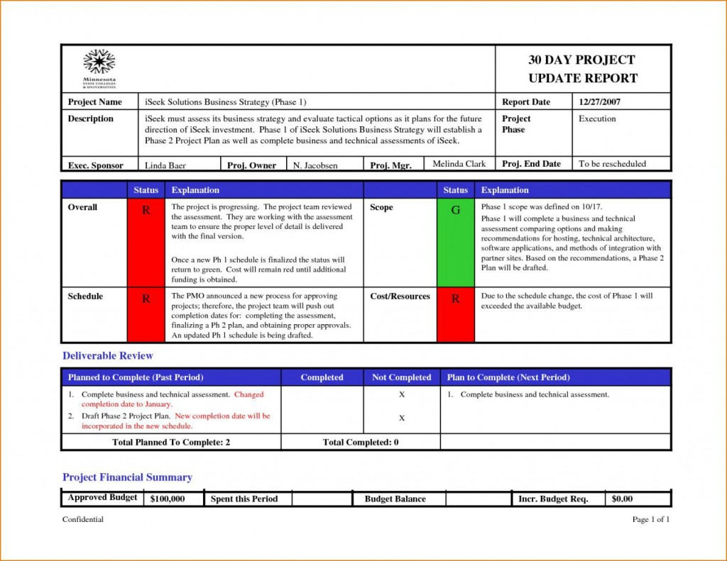 002 Wonderful Project Management Progres Report Template Picture  Statu Ppt WeeklyLarge