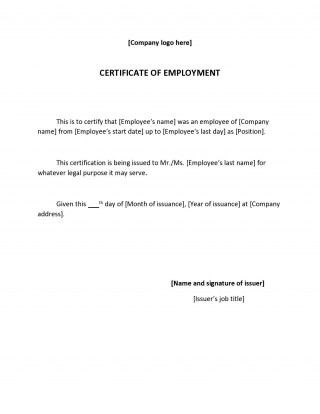 002 Wonderful Proof Of Employment Letter Template Canada Highest Clarity  Confirmation320