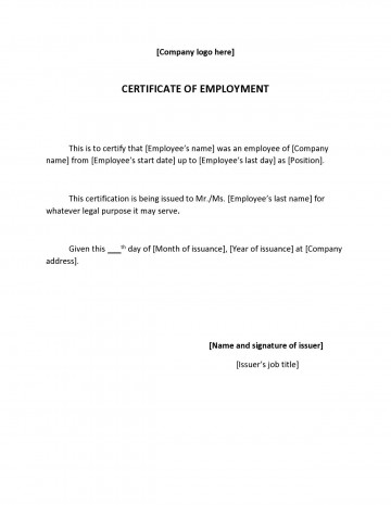 002 Wonderful Proof Of Employment Letter Template Canada Highest Clarity  Confirmation360