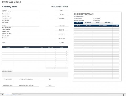 002 Wonderful Purchase Order Excel Template Design  Vba Download Free480